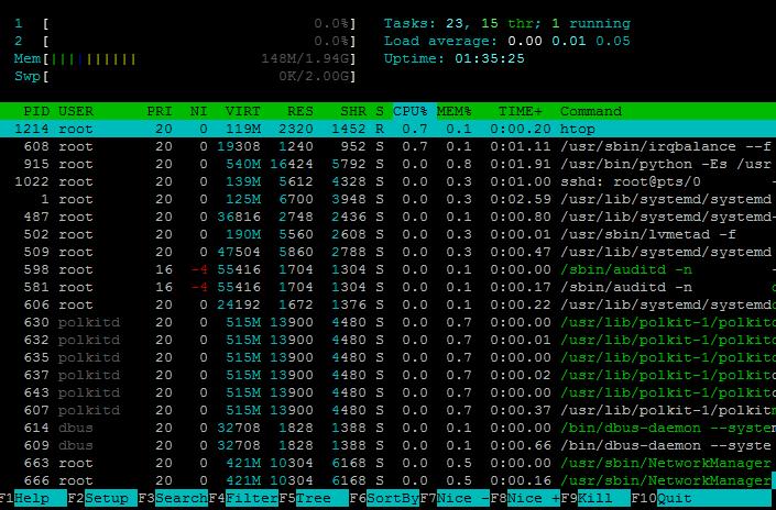 htop - продвинутый системный мониторинг для Linux